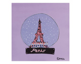 Paris Snow Globe Giclee Print by Brian Nash