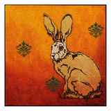 Sitting Hare Prints by Yvette Buigues
