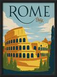 Rome, Italy Framed Giclee Print by  Anderson Design Group