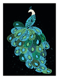 Peacock Giclee Print by  Methane Studios