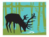 Print Mafia - Deer Digitálně vytištěná reprodukce