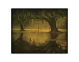 Two Oaks and Reflections Giclee Print by William Guion