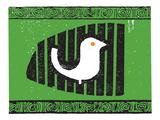 Fågelbur Poster av  Print Mafia