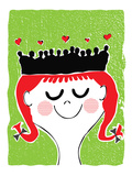 Queen of Hearts Giclee Print by strawberryluna