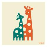 Giraffer Posters av Dan Stiles