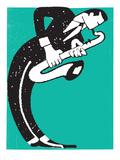 Saxofonista Reproducción por Print Mafia