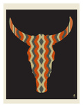 Steer Stripes Giclee Print by  Methane Studios