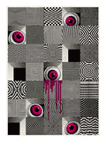 Optical Eyeballs Giclee Print by  Methane Studios