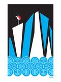 Dan Stiles - Bird Iceberg Reprodukce