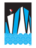 Bird Iceberg Giclée-Druck von Dan Stiles