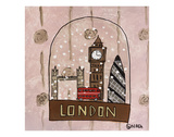 London Snow Globe Giclee Print by Brian Nash