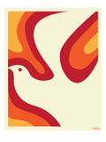 Dove in Flight Prints by Dan Stiles