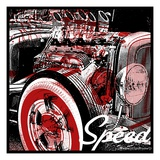 Speed Giclee Print by Mike Martin