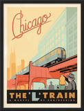 Chicago: The 'L' Train Framed Giclee Print by  Anderson Design Group