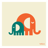 Elephants Giclee Print by Dan Stiles