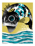 Mechanical Fish Giclee Print by Alan Hynes