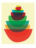 Bowl Stack Affiches par  strawberryluna