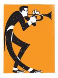 Trumpet Player Giclée-Druck von  Print Mafia