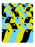 Bird Flock Pattern Giclee Print by strawberryluna