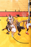 Miami, FL - JUNE 9 Shane Battier and Tracy McGrady Photographic Print