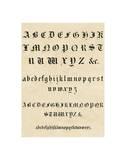Old English Text Alphabet Print