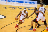 Miami, FL - JUNE 6 LeBron James, Chris Bosh and Kawhi Leonard Photographic Print