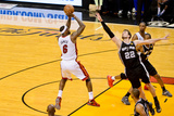 Miami, FL - JUNE 6 LeBron James and Tiago Splitter Photographic Print