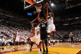 Miami, FL - JUNE 9 LeBron James and Tim Duncan Photographic Print