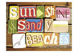Sunshine And Sandy Beaches Poster by  Norfolk Boy