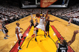 Miami, FL - JUNE 9 Chris Andersen and Boris Diaw Photographic Print