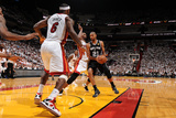 Miami, FL - JUNE 9 Tim Duncan, Chris Bosh and LeBron James Photographic Print