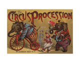 The Circus Procession, 1888 Posters