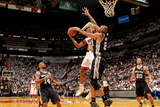 Miami, FL - JUNE 6 Tim Duncan and Ray Allen Photographic Print