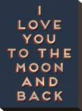 To the Moon and Back Stretched Canvas Print
