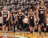 Miami, FL - JUNE 6 Tony Parker, Danny Green and Manu Ginobili Photographie