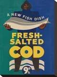 Fresh Salted Cod Stretched Canvas Print
