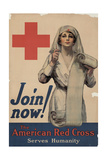 Center Warshaw Collection, Join now! The American Red Cross Serves Humanity Giclee Print