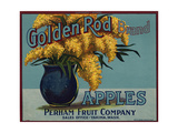 Fruit Crate Labels: Golden Rod Brand Apples; Perham Fruit Company Giclee Print