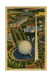 Trylon and Perisphere, New York World's Fair Giclee Print