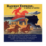 National Air and Space Museum: Railway Express - A Century of Service Giclee Print