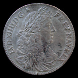 "Coin Minted in Paris for ""New France"" Territories in 1670, National Museum of American History Photographic Print"