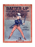 "Sheet Music Covers: ""Batter Up"" Music by Harry Von Tilzer and Words by Harry Tighe, 1918 Giclee Print"