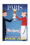 Pan Am - Paris - Giclee Baskı