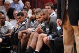 Miami, FL - JUNE 9 Tony Parker and Tim Duncan Photographic Print
