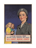 Center Warshaw Collection, Federal Security Agency Poster. U.S. CADET NURSE CORPS Giclee Print