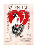 "Sheet Music Covers: ""Valentine"" Music by H. Christine and Words by Albert Willemetz, 1906 Giclee Print"