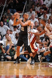 Miami, FL - JUNE 9 Tim Duncan and Chris Bosh Photographic Print