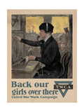 Center Warshaw Collection, Back Our Girls Over There Giclee Print