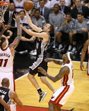 Miami, FL - JUNE 6 Manu Ginobili and Chris Andersen Photographic Print