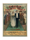 "Sheet Music Covers: ""The American Wedding March"" Composed by E. T. Paull, 1918 Giclee Print"